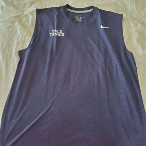 Yale Tennis sleeveless workout tee Large